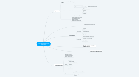 Mind Map: Organizaciones y psicología en el trabajo