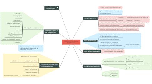 Mind Map: EVALUACION Y TECNICA PROFESIONAL