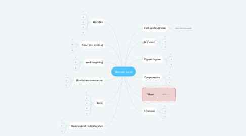 Mind Map: Nieuwe baan