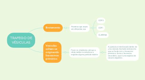 Mind Map: TRAFEGO DE VÉSICULAS