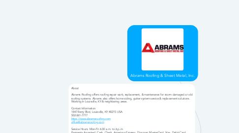 Mind Map: Abrams Roofing & Sheet Metal, Inc.