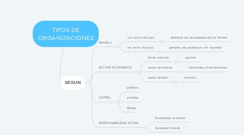 Mind Map: TIPOS DE ORGANIZACIONES