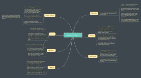 Mind Map: cultureel zelfportret