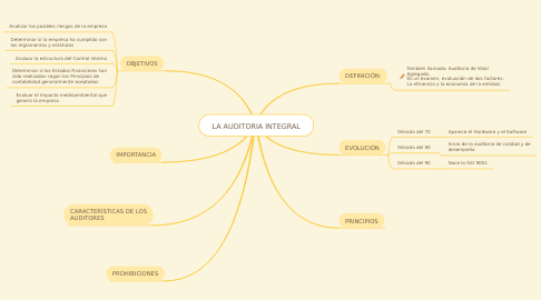 Mind Map: LA AUDITORIA INTEGRAL