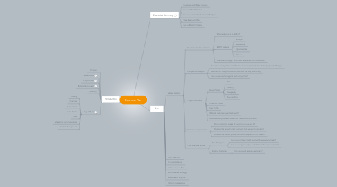 Mind Map: Business Plan