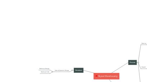 Mind Map: Skynet Warehousing