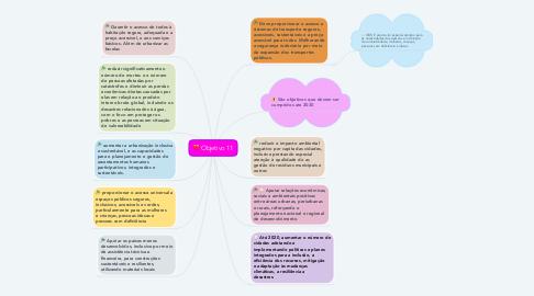 Mind Map: Objetivo 11