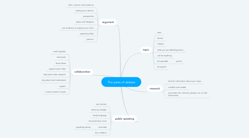 Mind Map: The parts of debate