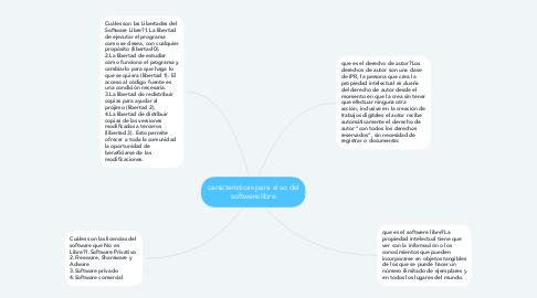 Mind Map: caracteristicas para el so del softwere libre