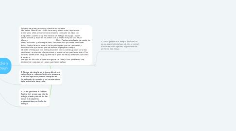 Mind Map: Técnicas de estudio y disciplina de trabajo