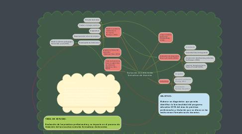 Mind Map: Evaluación de instituciones formadoras de docentes