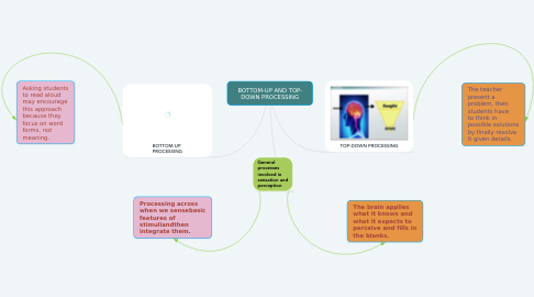 Mind Map: BOTTOM-UP AND TOP- DOWN PROCESSING