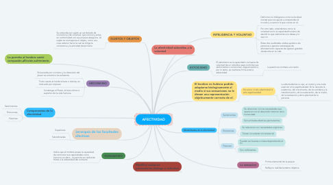 Mind Map: AFECTIVIDAD