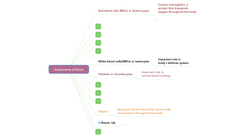 Mind Map: Components of blood