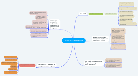 Mind Map: brigadas de emergencia