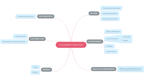 Mind Map: CUSTOMER ATTRACTION