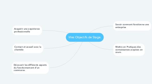 Mind Map: Mes Objectifs de Stage.
