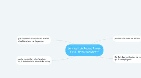 """Mind Map: Le travail de Robert Paxton est-il """"révolutionnaire?"""""""