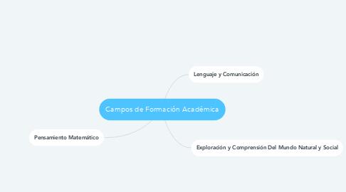 Mind Map: Campos de Formación Académica