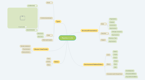 Mind Map: Reptiles in Life