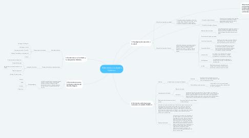 Mind Map: Enfermería y cuidados Holístico.