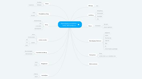 Mind Map: Bæredygtig produktion - Sofie, Mie & Marius