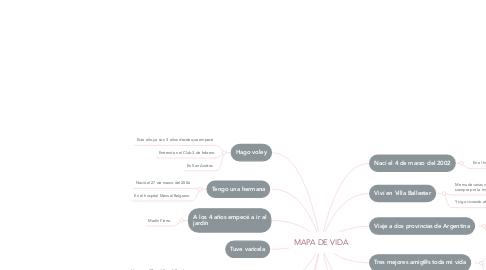 Mind Map: MAPA DE VIDA