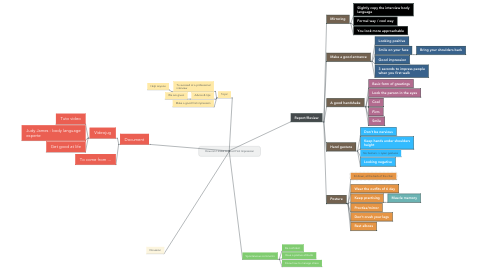 Mind Map: How can I make A Good First Impression