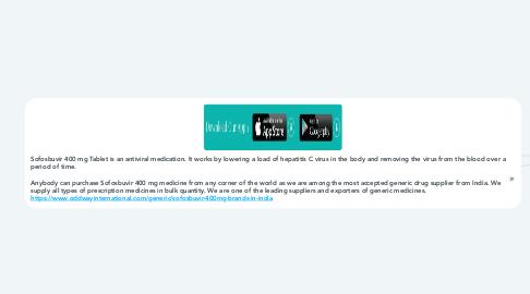 Mind Map: Sofosbuvir 400 mg Tablet Price – Buy online Medicine