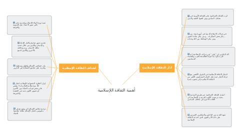 Mind Map: أهمية الثقافة اللإسلامية