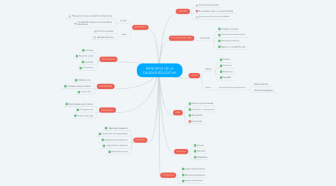 Mind Map: PRINCIPIOS DE LA CALIDAD EDUCATIVA