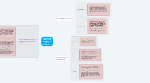 Mind Map: ADAPTACIÓN Y SATISFACCIÓN DEL INDIVIDUO DE LA ORGANIZACIÓN
