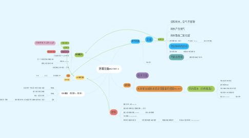 Mind Map: 环境污染wu ran