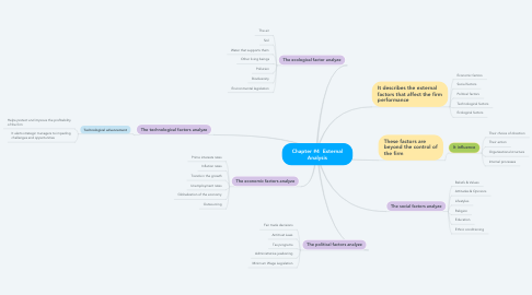 Mind Map: Chapter #4  External Analysis
