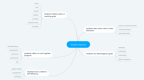 Mind Map: Student Agency