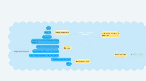 Mind Map: ¿Qué es la reforma educativa?