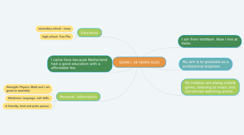 Mind Map: QUAN ( 18 YEARS OLD)