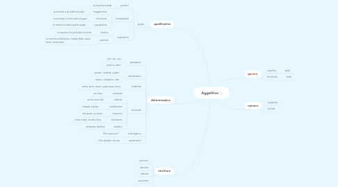 Mind Map: Aggettivo