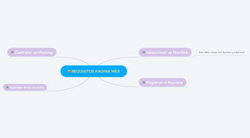 Mind Map: REQUISITOS PAGINA WEB