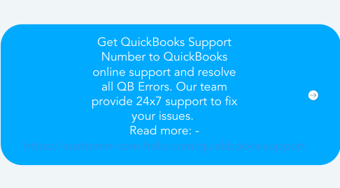 Mind Map: Get QuickBooks Support Number to QuickBooks online support and resolve all QB Errors. Our team provide 24x7 support to fix your issues.  Read more: - https://customer-care-help.com/quickbooks-support