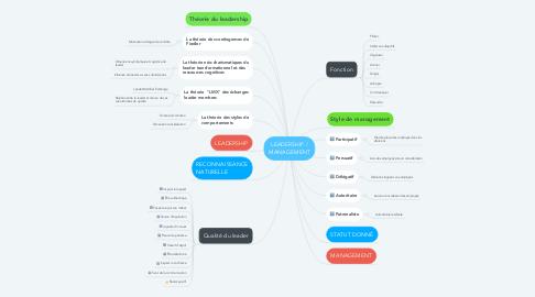 Mind Map: LEADERSHIP / MANAGEMENT