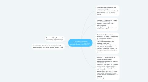 """Mind Map: """"Las obligaciones patronales ante el IMSS""""."""