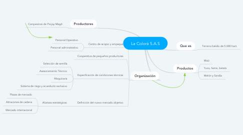 Mind Map: La Colorá S.A.S