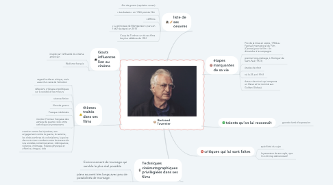 Mind Map: Bertrand Tavernier