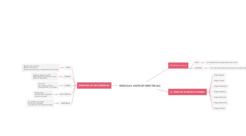 Mind Map: MEDIDAS ANTROPOMETRICAS