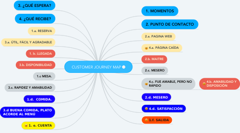 Mind Map: CUSTOMER JOURNEY MAP