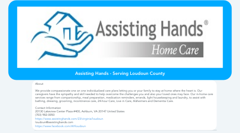 Mind Map: Assisting Hands - Serving Loudoun County