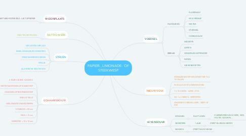 Mind Map: PAPIER-, LIMONADE- OF STEEKWESP