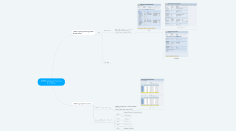 Mind Map: SCM365 Capacity Planning & Levelling