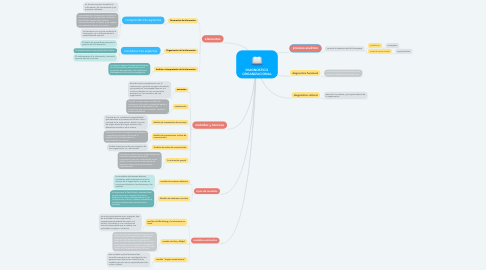 Mind Map: DIAGNOSTICO ORGANIZACIONAL